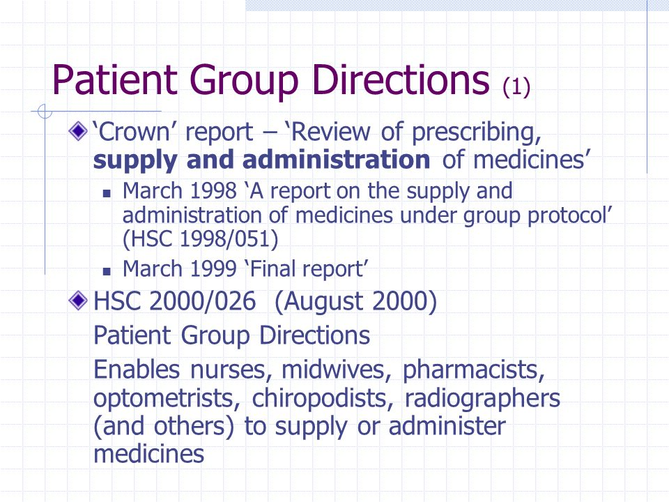 Patient Group Directions (1)