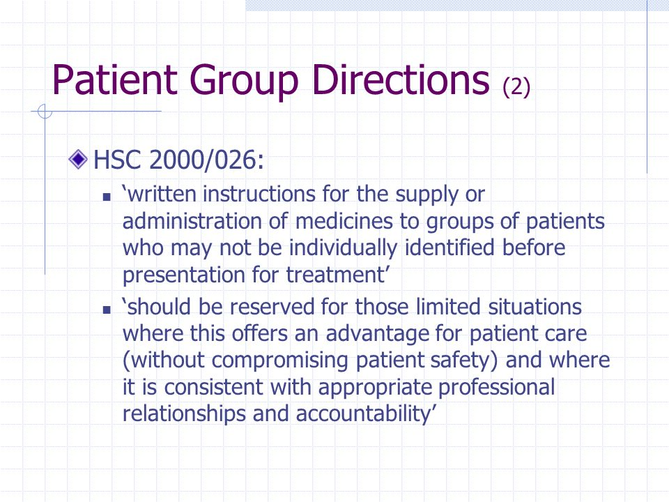 Patient Group Directions (2)