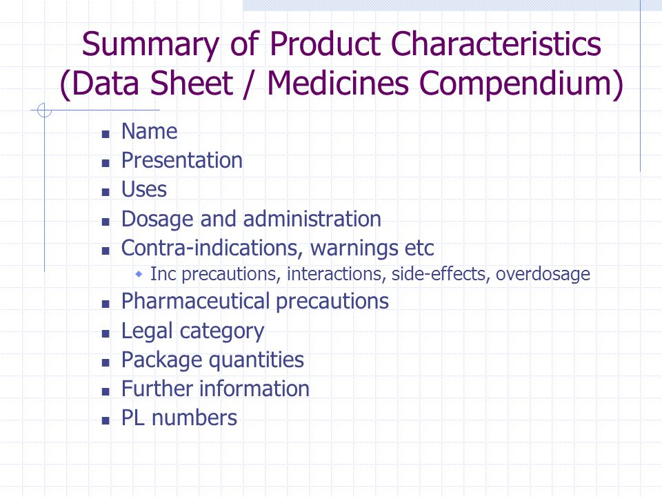 Summary of Product Characteristics (Data Sheet / Medicines Compendium)