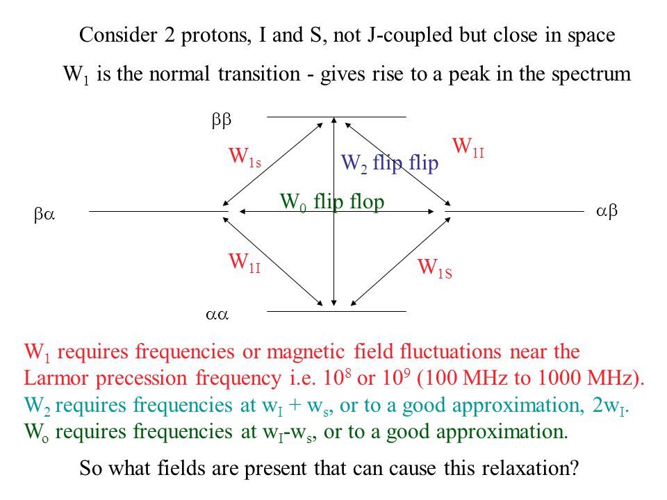 Consider 2 protons, I and S, not J-coupled but close in space