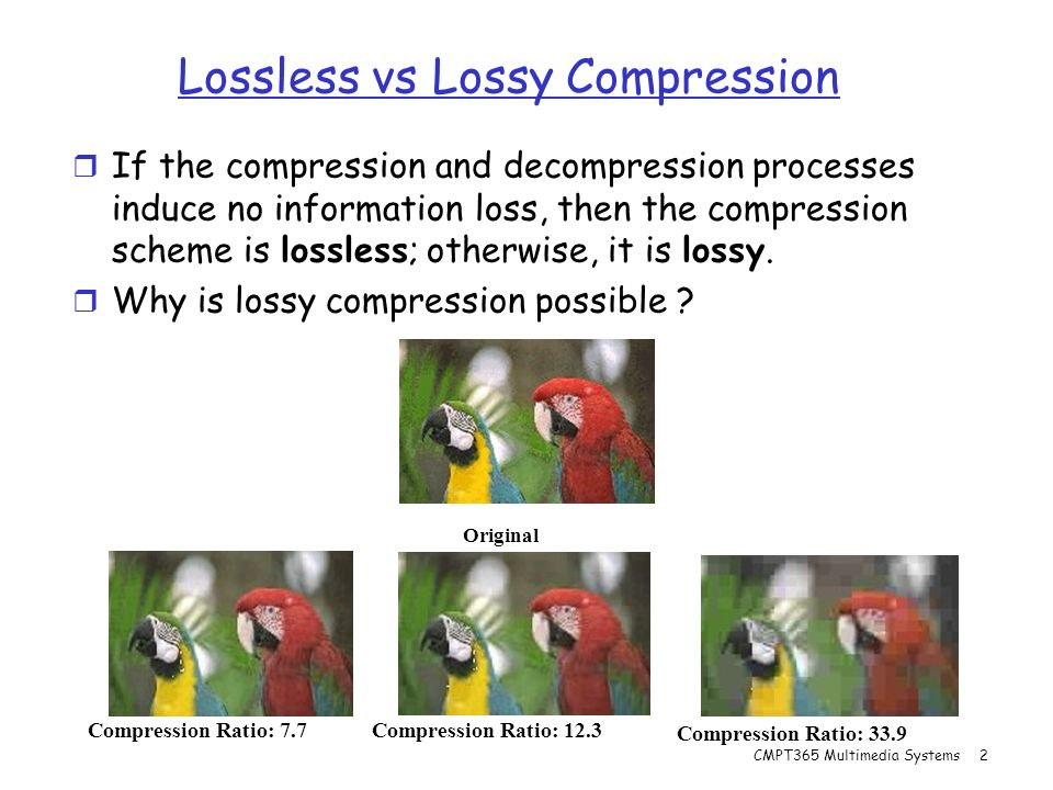 lossy and lossless compression pdf