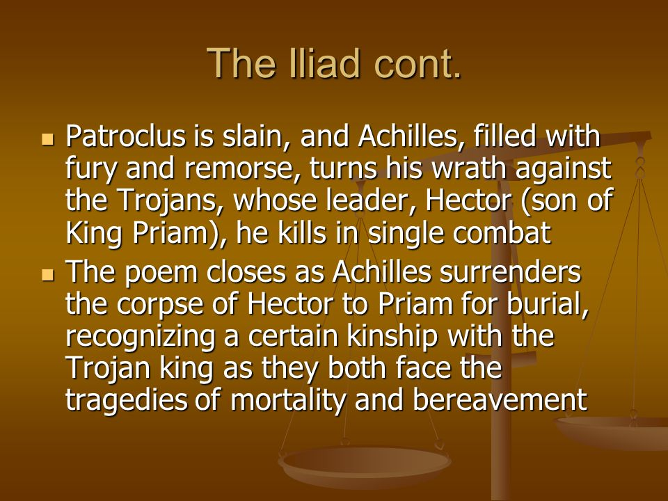role of wrath in the illiad Role of zeus in the iliad role of zeus in the iliad  one of them being the wrath of achilles and the will of zeus  the role of the gods in homer's iliad if .