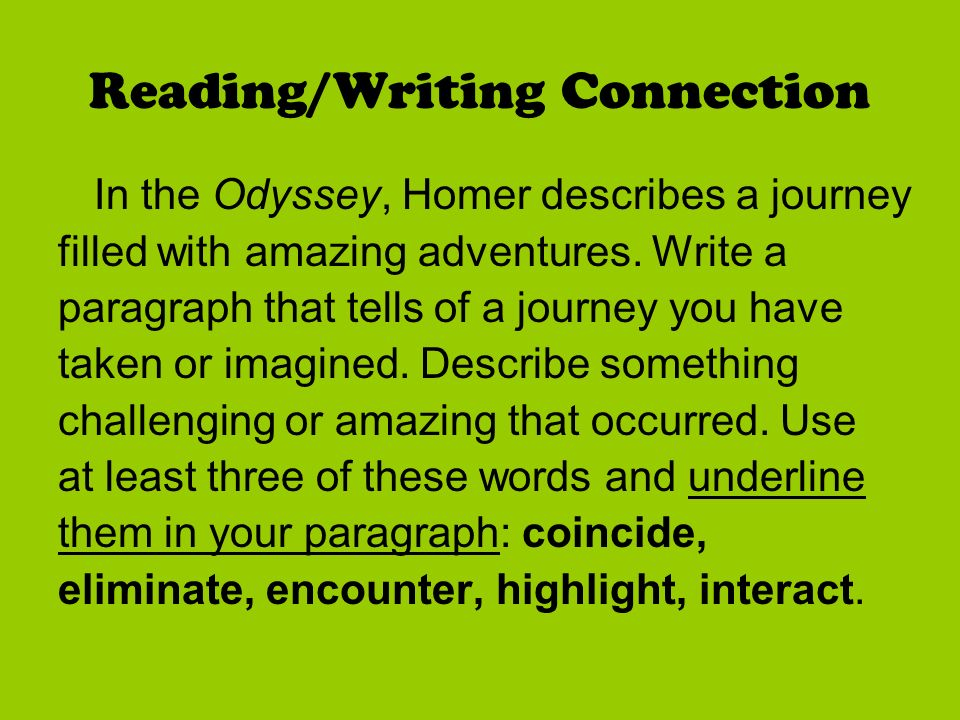 reading and writing connection essay There are some properties of communication that span all of the different forms of  communication, and as such, practice in one communication form can help.