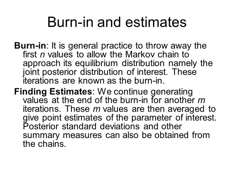 Burn-in and estimates