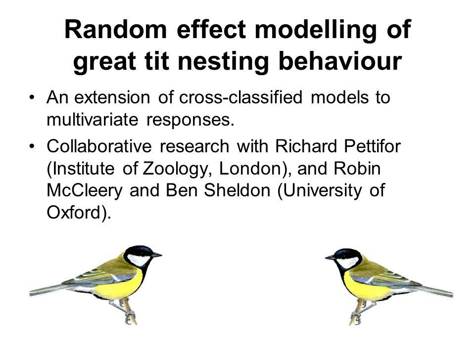Random effect modelling of great tit nesting behaviour