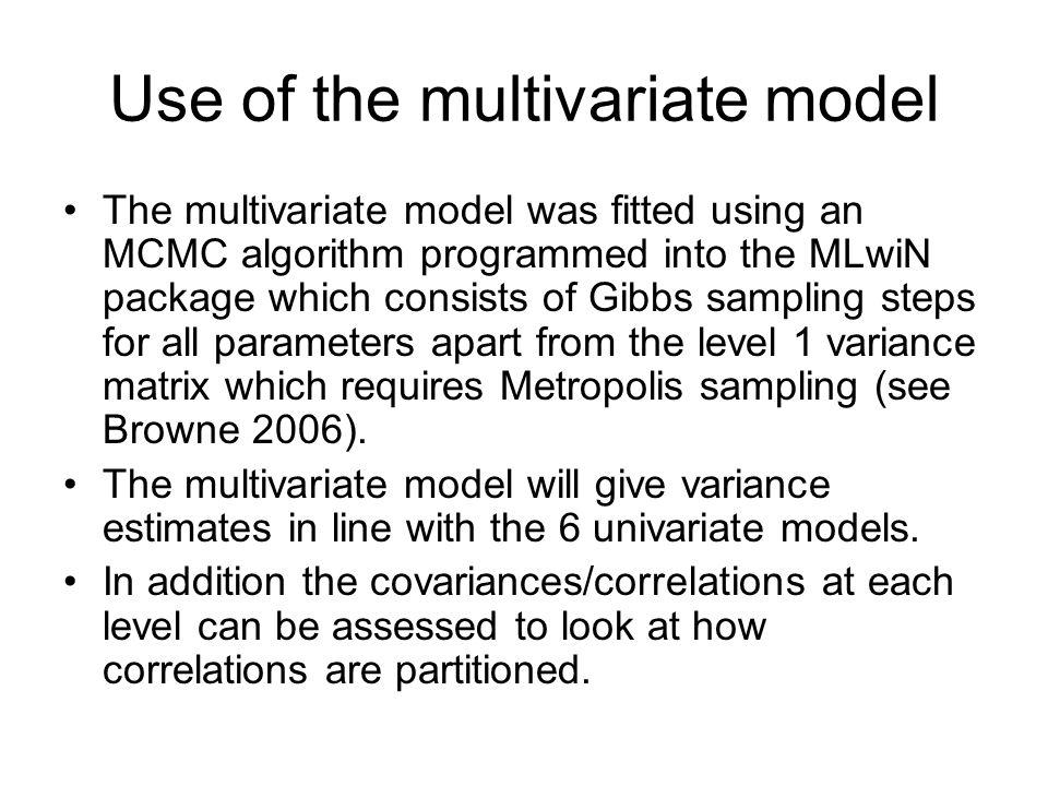 Use of the multivariate model