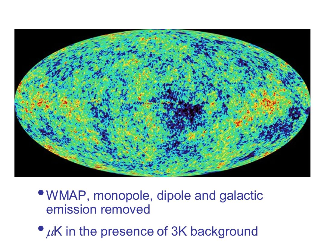 WMAP, monopole, dipole and galactic emission removed