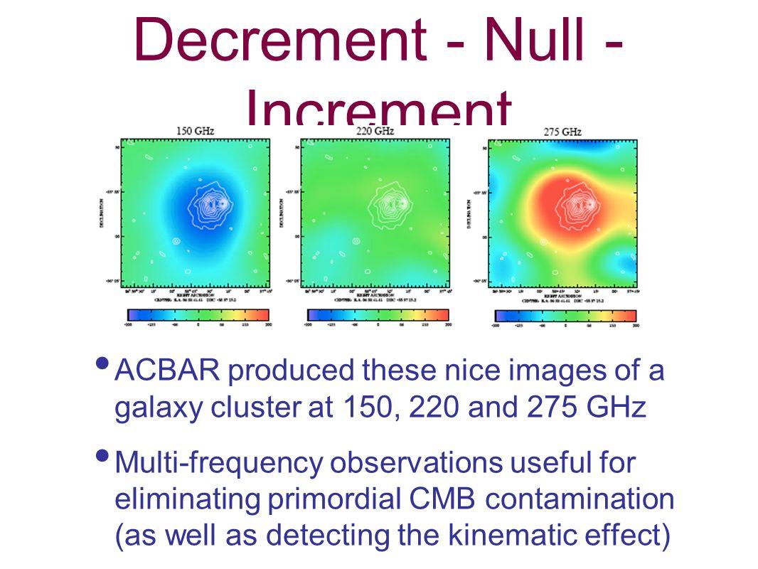 Decrement - Null - Increment