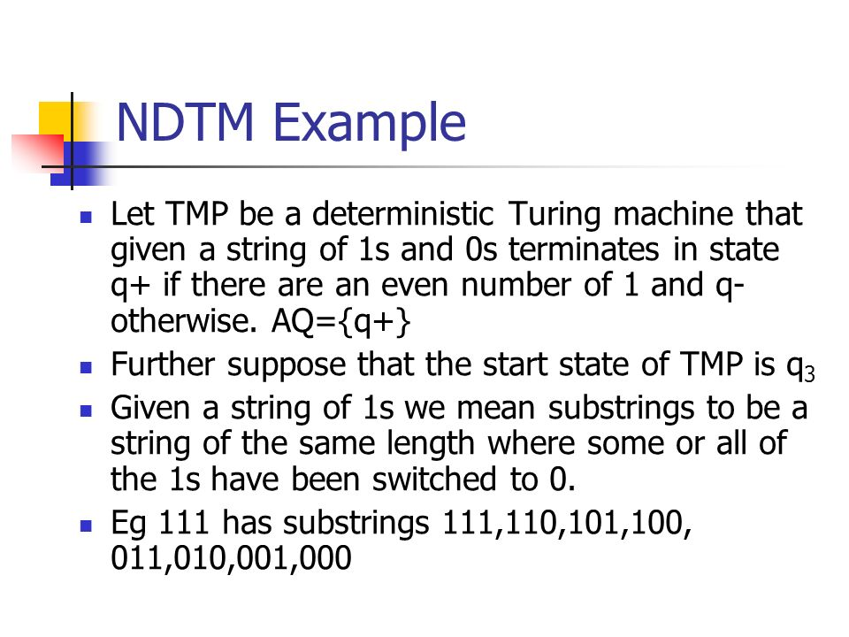 NDTM Example