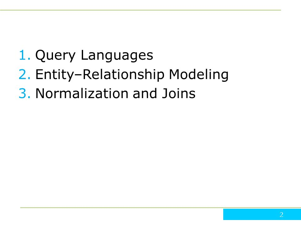 assignment 2 database modeling and normalization Data modeling in the context of database design database design is defined as: design the logical and physical structure of one or more databases to accommodate the information needs of the users.