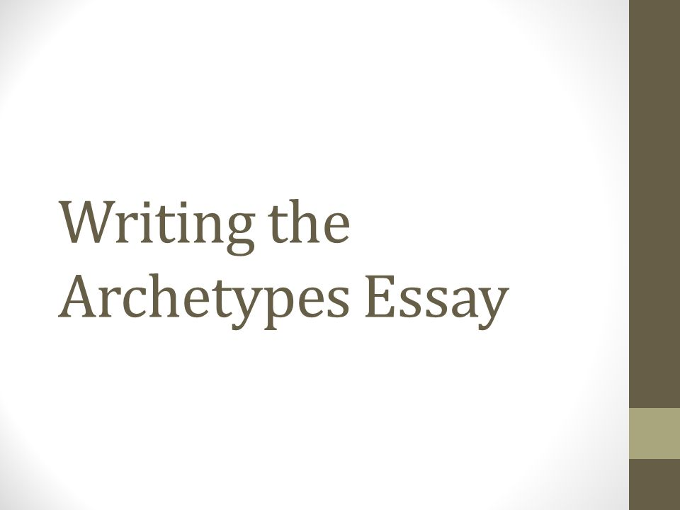 archetypes research paper Therefore, archetypal criticism attempts to pinpoint various archetypes in literary works in order for human s to catalog the archetypes with its.