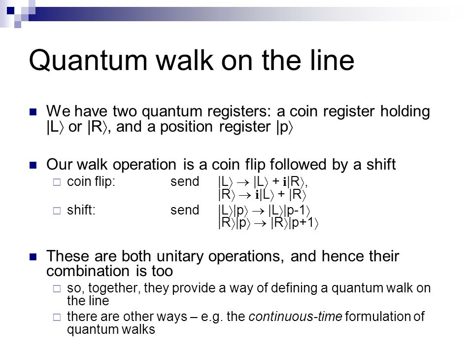 Quantum walk on the line
