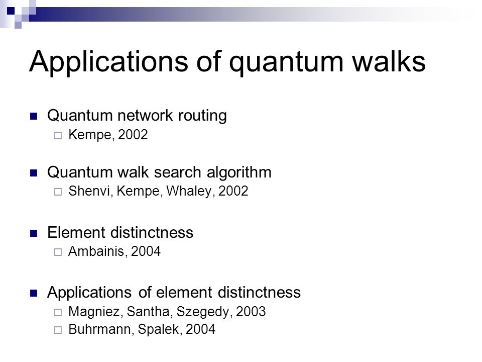 Applications of quantum walks