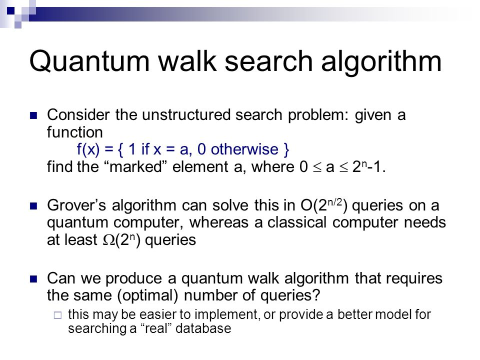 Quantum walk search algorithm