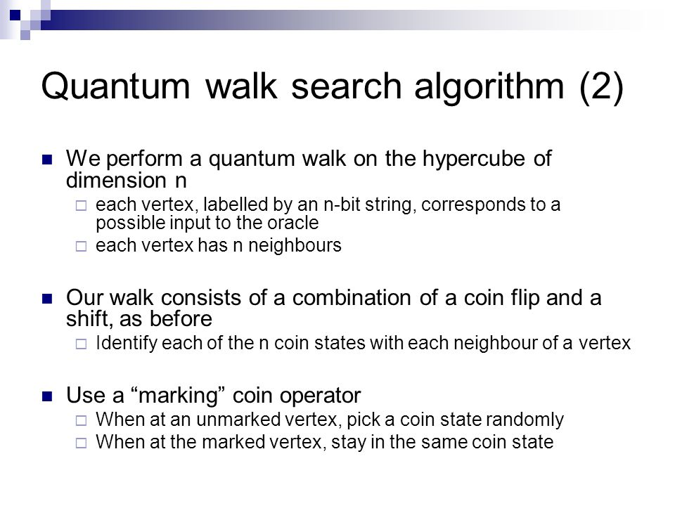 Quantum walk search algorithm (2)