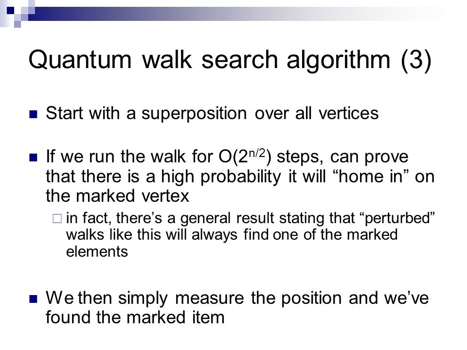 Quantum walk search algorithm (3)