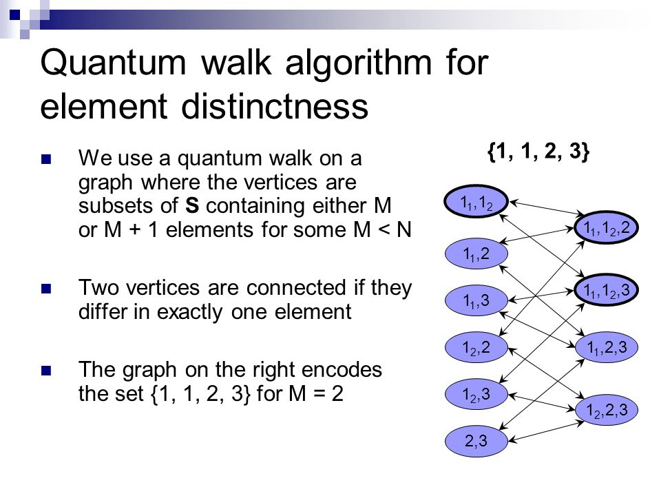 Quantum walk algorithm for element distinctness