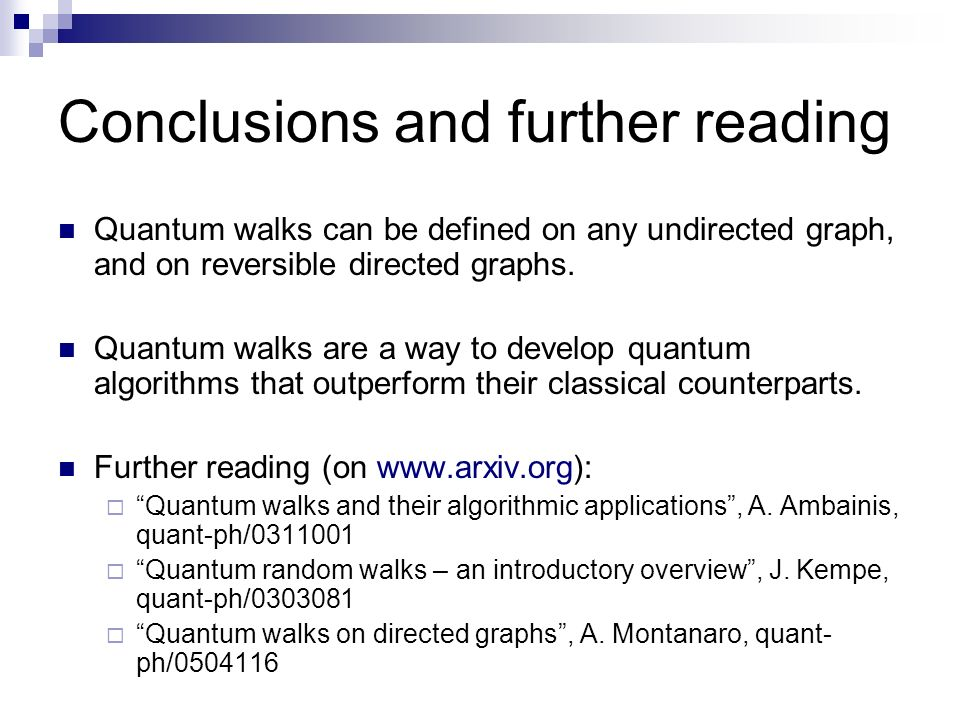 Conclusions and further reading