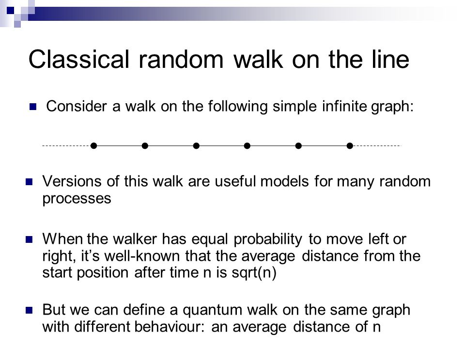 Classical random walk on the line