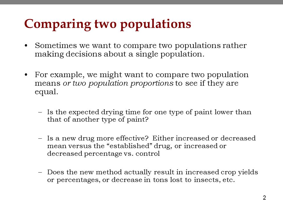 Topic 8 - Comparing two samples - ppt download