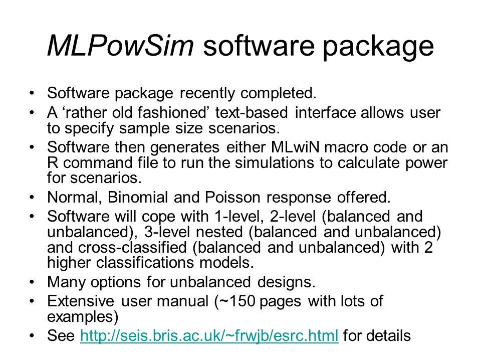 MLPowSim software package