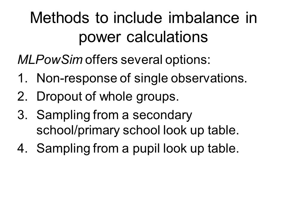 Methods to include imbalance in power calculations
