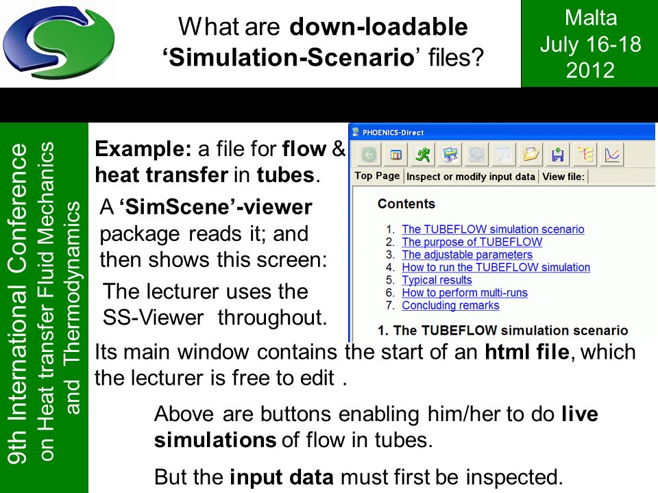 What are down-loadable 'Simulation-Scenario' files