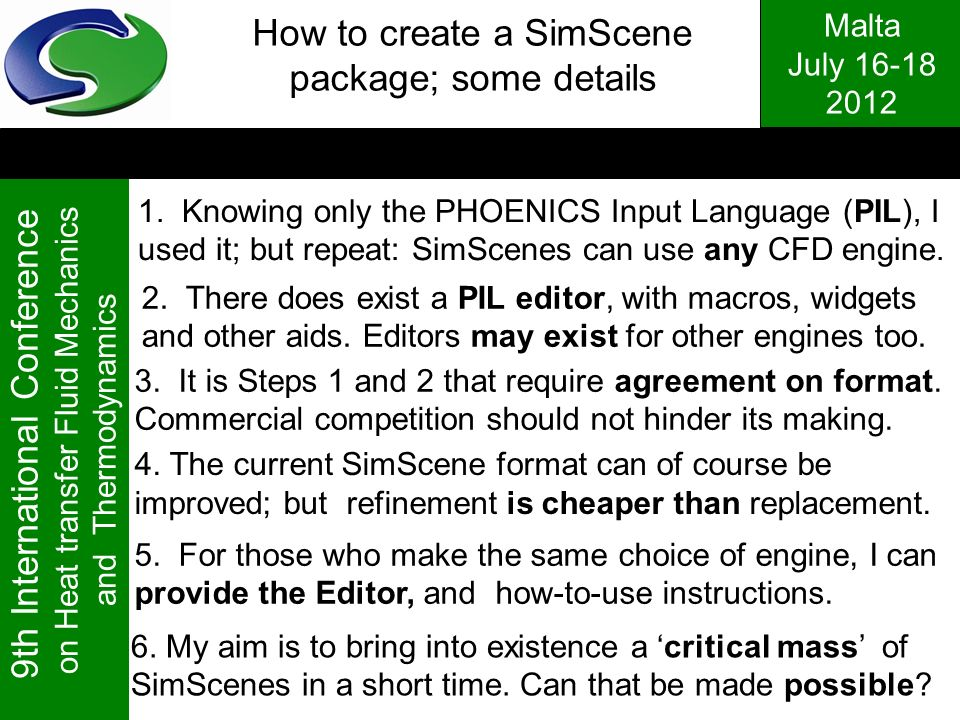 How to create a SimScene package; some details