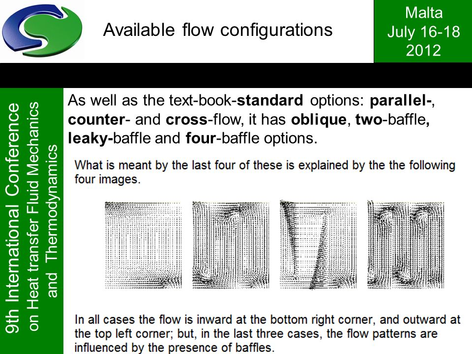 Available flow configurations