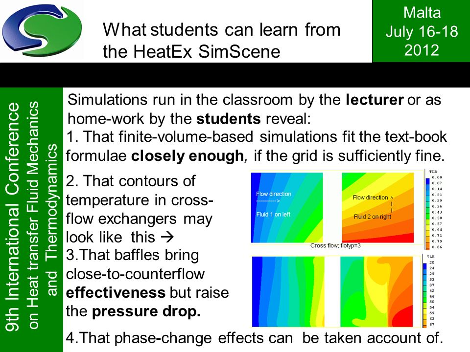 What students can learn from the HeatEx SimScene