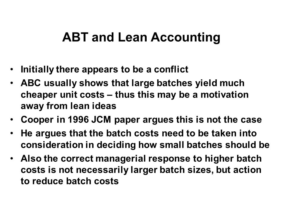 ABT and Lean Accounting