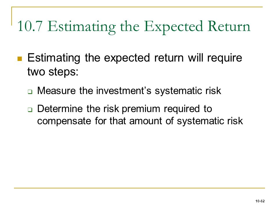 estimating risk and return Start studying ch 10: estimating risk and return learn vocabulary, terms, and more with flashcards, games, and other study tools.