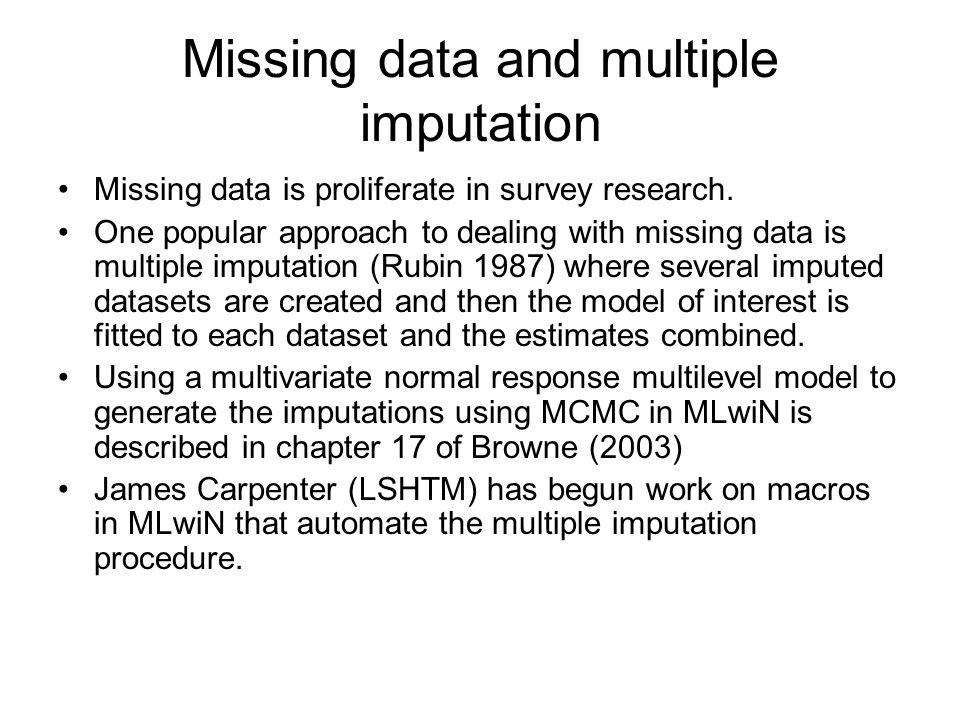Missing data and multiple imputation