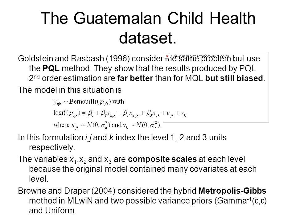 The Guatemalan Child Health dataset.