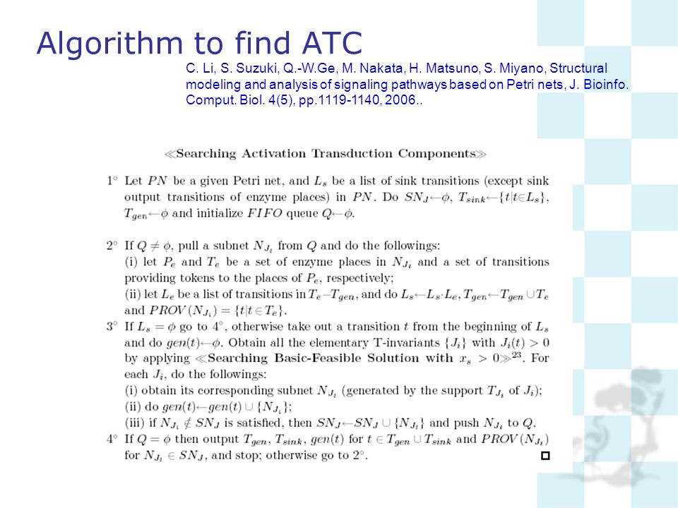 Algorithm to find ATC