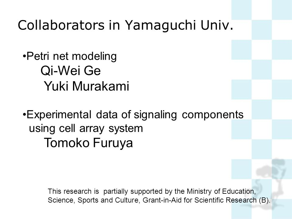 Collaborators in Yamaguchi Univ.