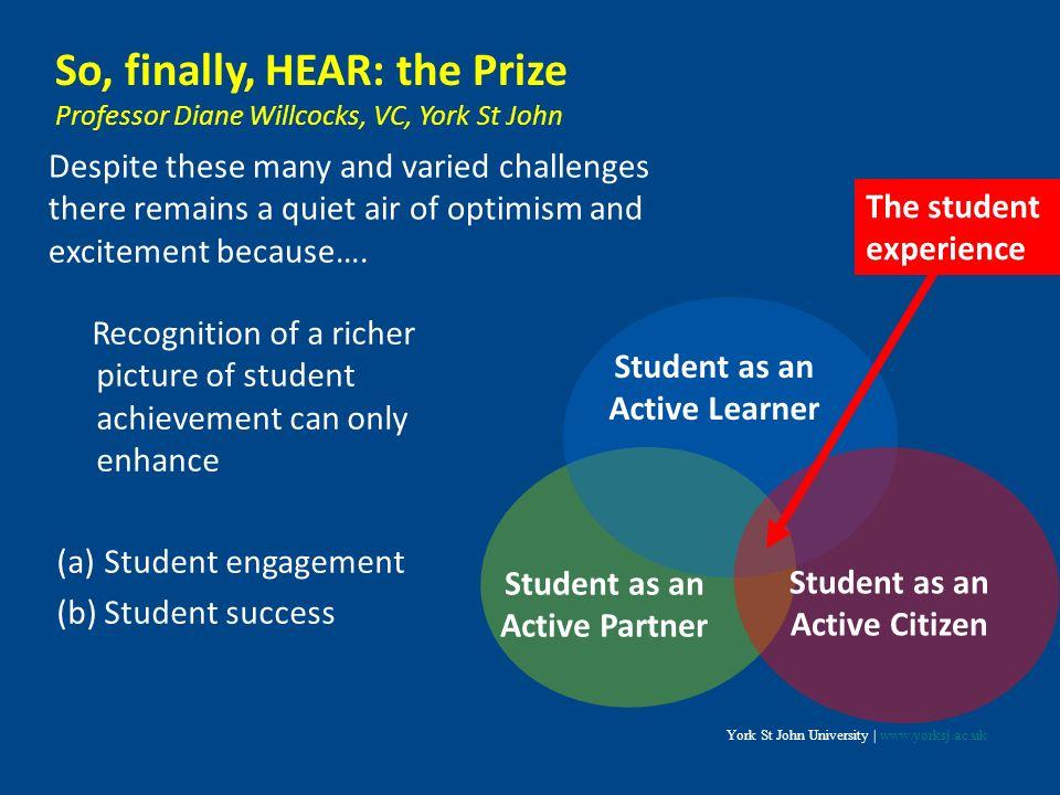 So, finally, HEAR: the Prize