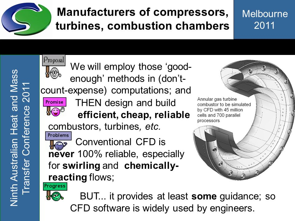 Manufacturers of compressors, turbines, combustion chambers