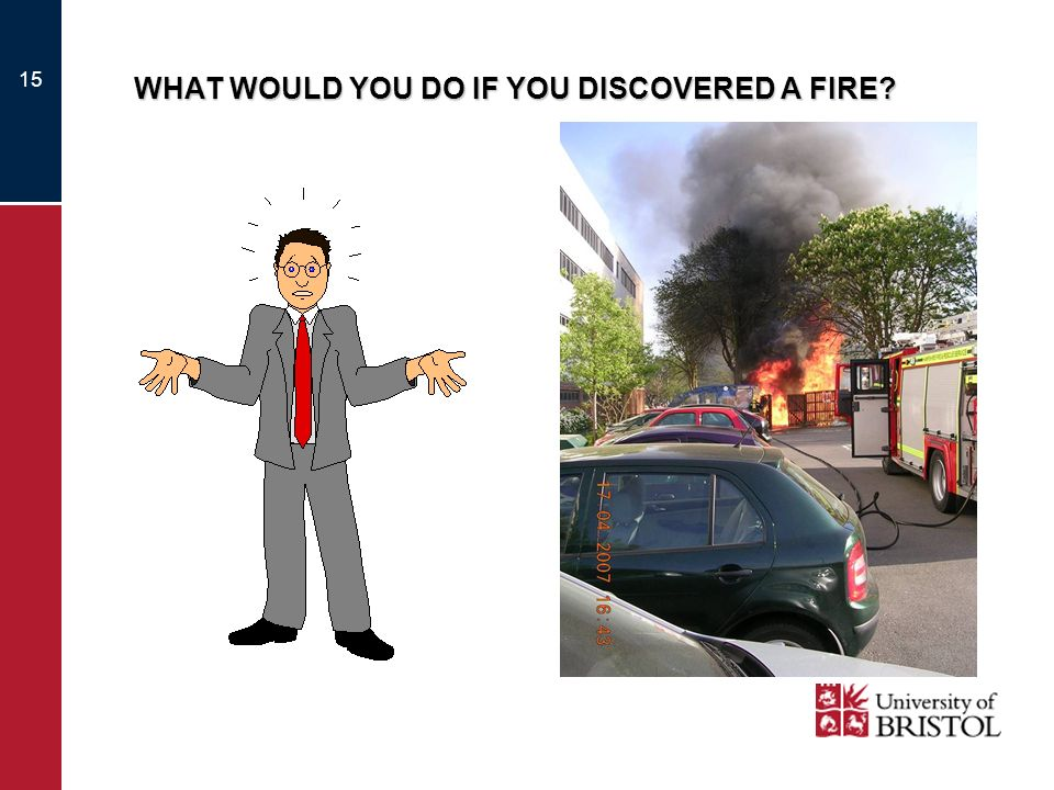 WHAT WOULD YOU DO IF YOU DISCOVERED A FIRE