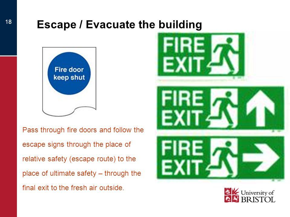 Escape / Evacuate the building