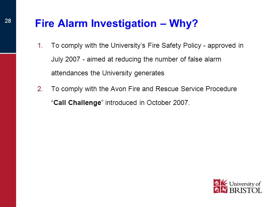 Fire Alarm Investigation – Why
