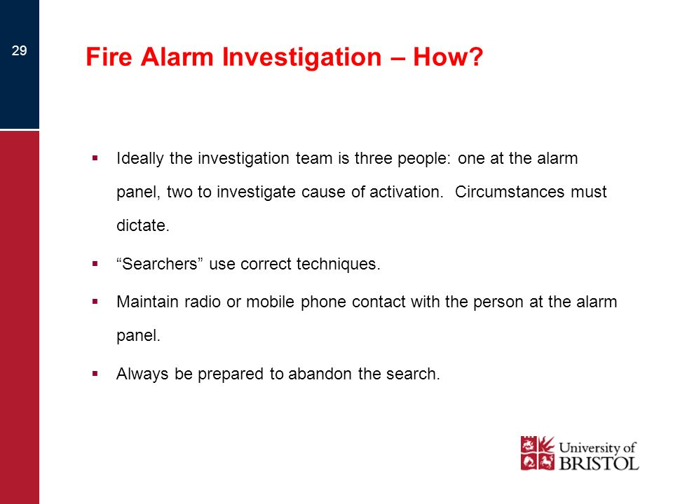 Fire Alarm Investigation – How