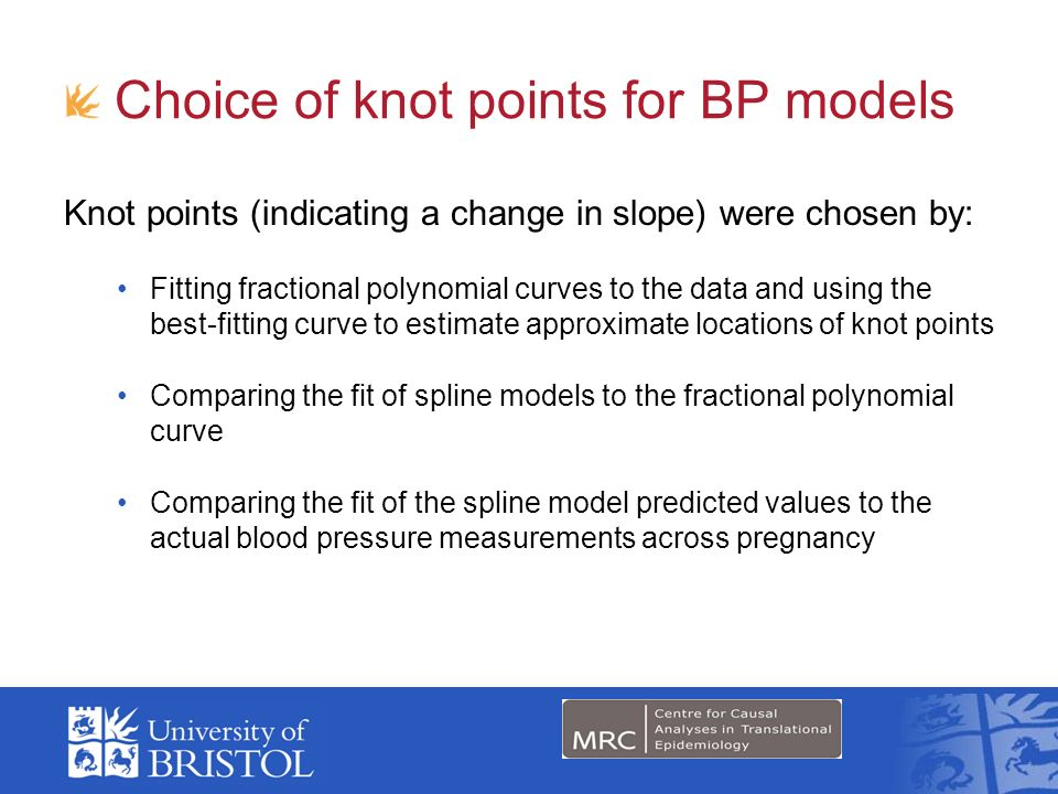 Choice of knot points for BP models