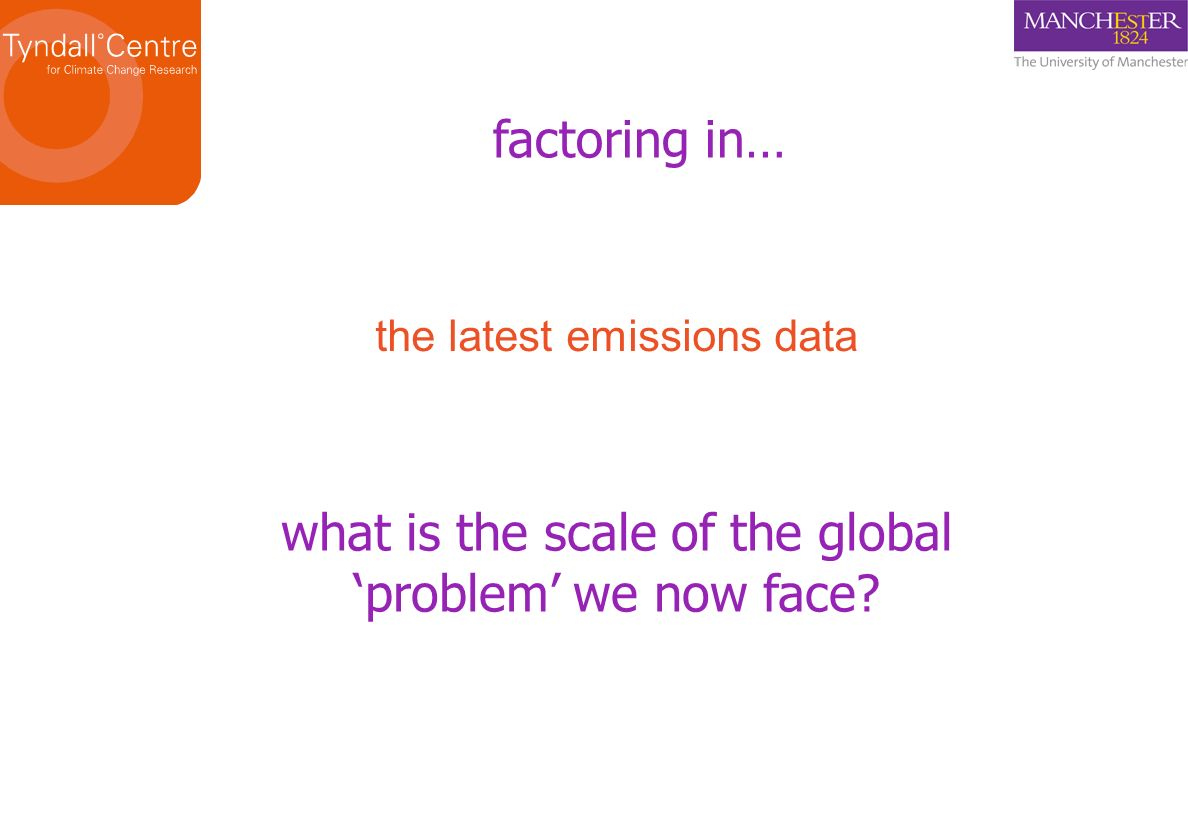 what is the scale of the global 'problem' we now face