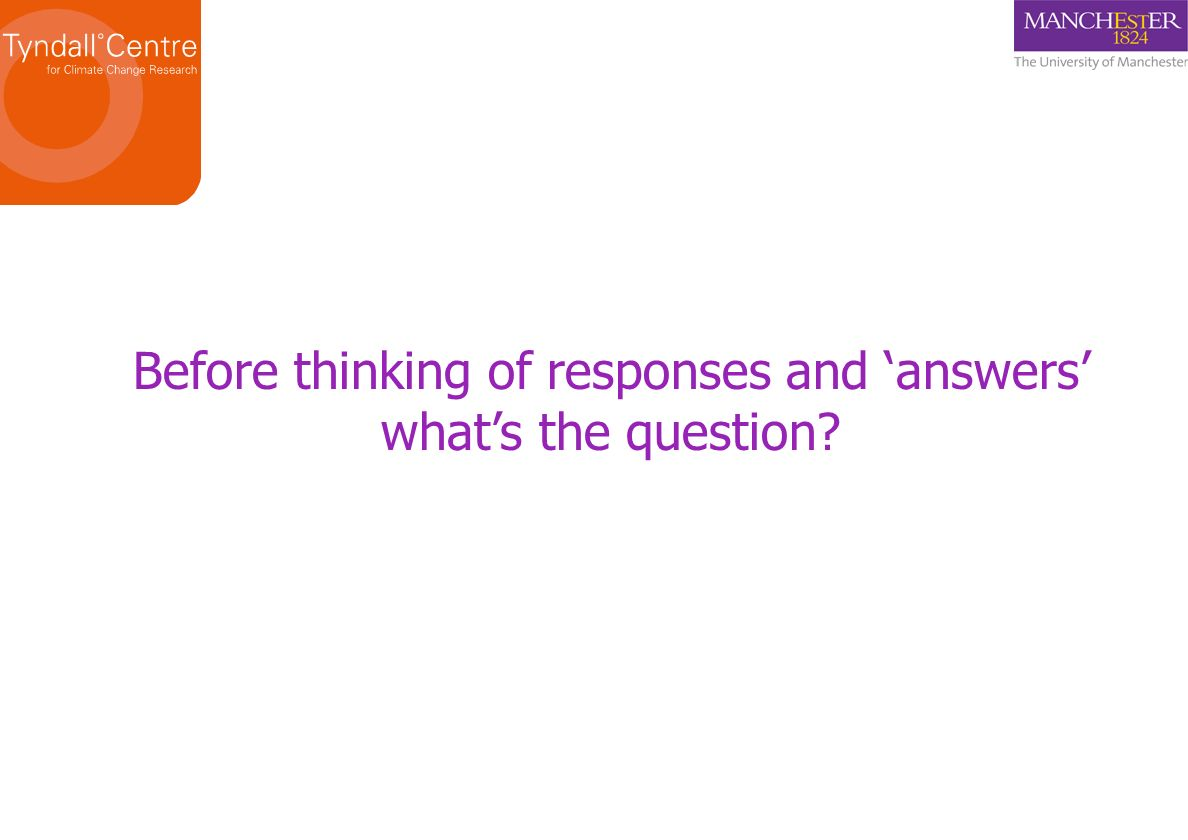 Before thinking of responses and 'answers'