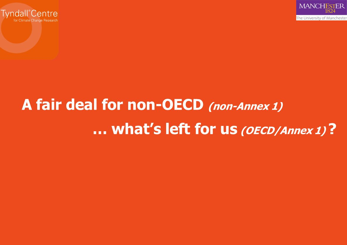 A fair deal for non-OECD (non-Annex 1)