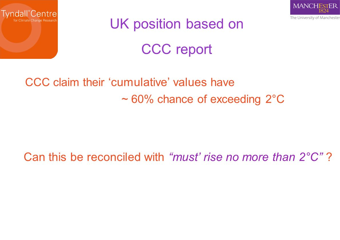 UK position based on CCC report
