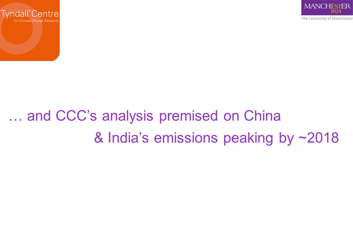 … and CCC's analysis premised on China