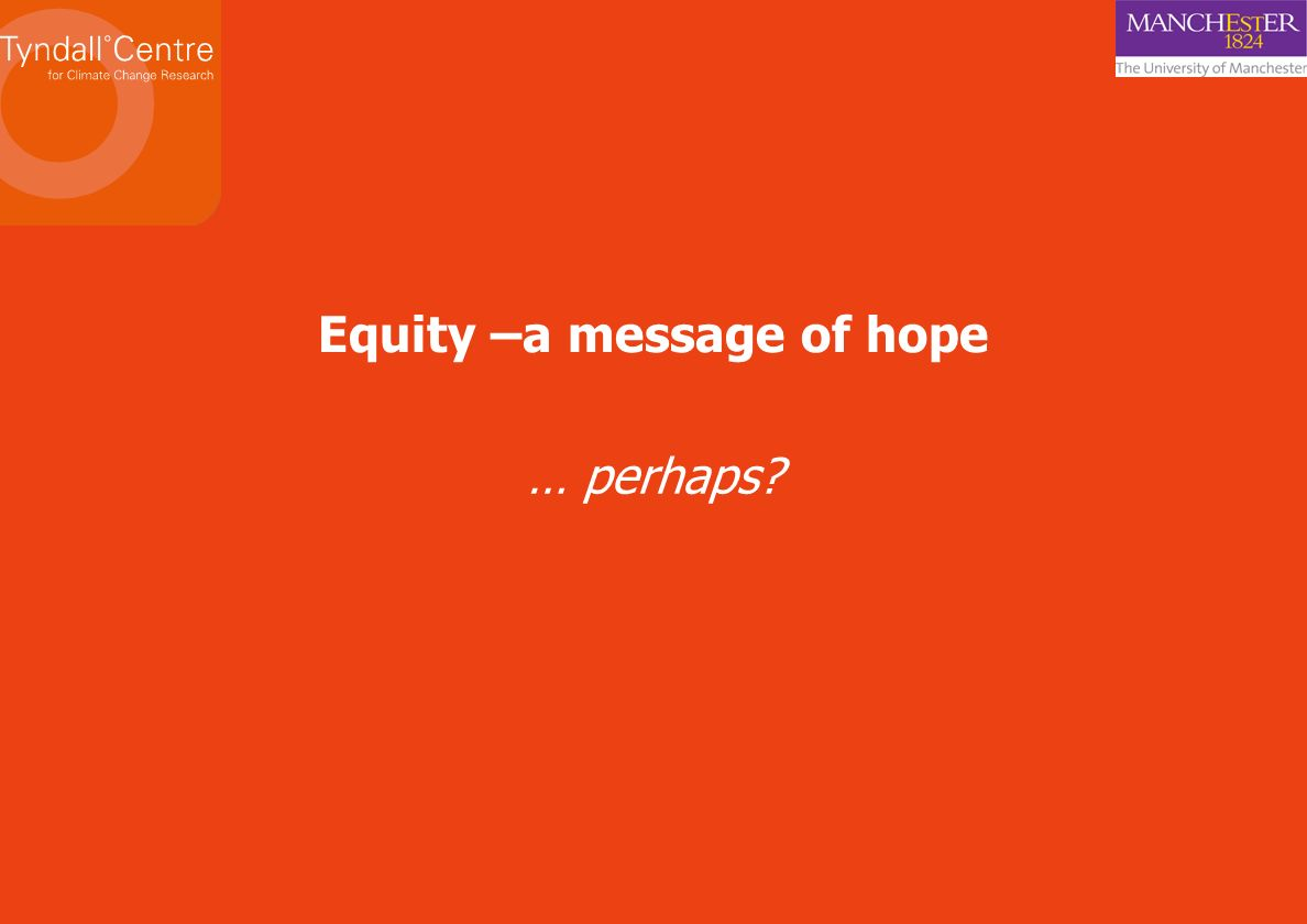 Equity –a message of hope