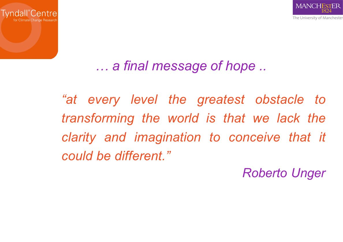 … a final message of hope ..